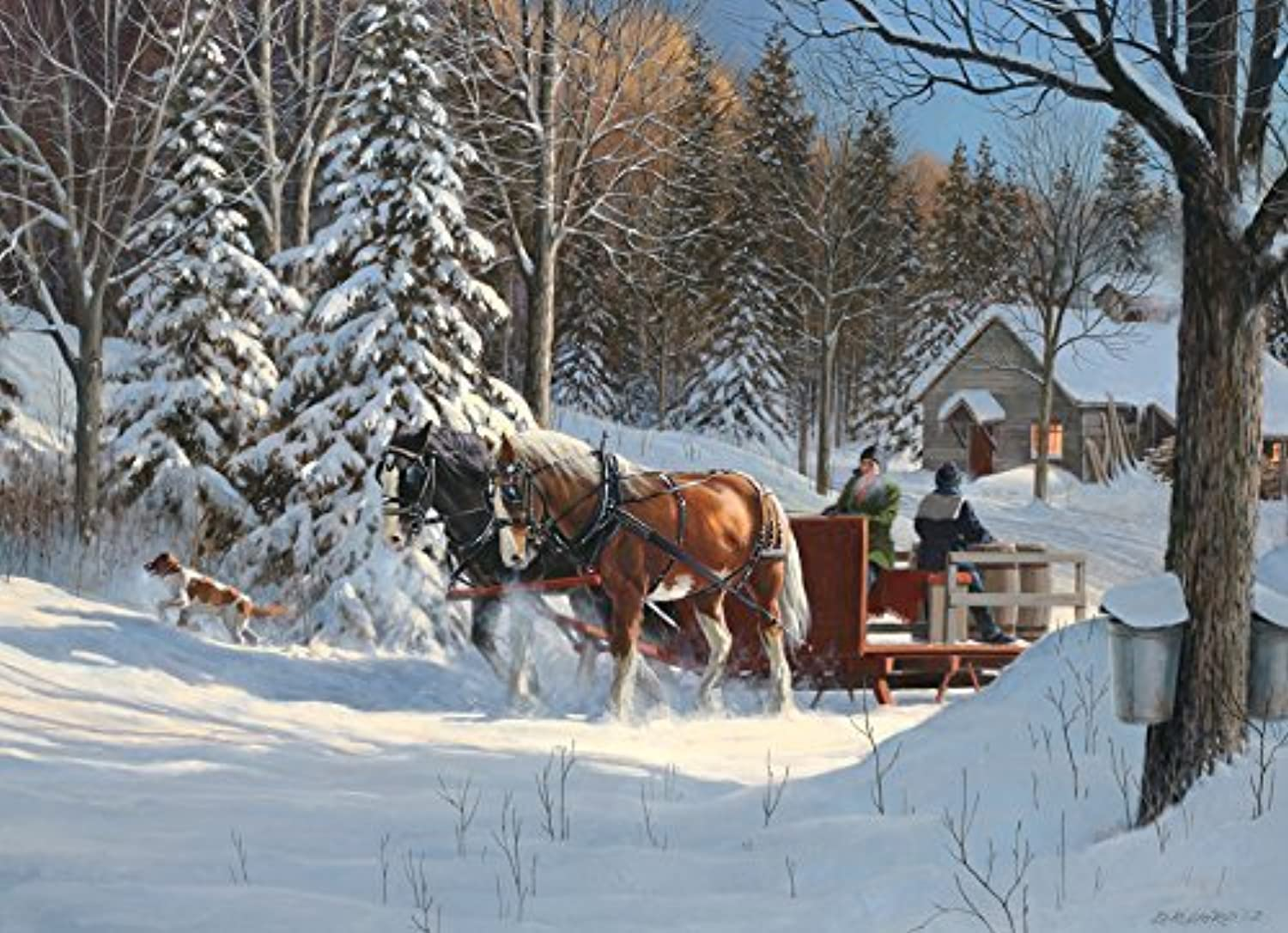 Sugar Shack Horses, A 1000 Piece Jigsaw Puzzle by Cobble Hill by Cobble Hill