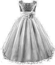 Best silver flower girl dresses Reviews