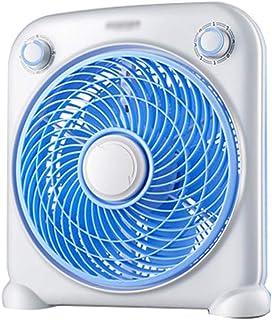 WLJ Mini Ventilador doméstico Ventilador silencioso Suelo Ventilador Giratorio pequeño 33 * 11 * 35 cm A + (Color : Blue)