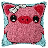 Kit de gancho de cierre de cojín, patrón de cerdo rojo (43 x 43...
