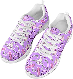 Coloranimal Spring Summer Nurse Flats for Women Running Walking Sneakers