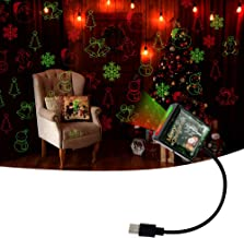 LECART Led Christmas Projector Light Dual Color Auto Roof Star Night Light USB Star Projector Light Atmosphere Decoration ...