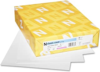 Neenah Paper 01345 CLASSIC CREST Writing Paper, 24lb, 8 1/2 x 11, Natural White, 500 Sheets