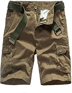 Fseason Men Half Pants Comfort Multi Pockets Oversized Tactical Combat Pants
