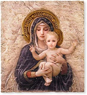 Sacred Traditions Madonna with Child Christ Icon 10 Inch Painted Resin Wall Plaque