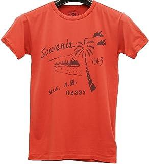 (ダブルアールエル) RRL コットン ジャージー Tシャツ フェイデド レッド メンズ Cotton Jersey Graphic Tshirt Faded Red 並行輸入品 [並行輸入品]
