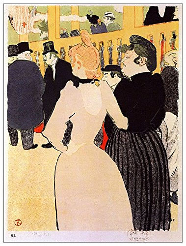 ArtPlaza Toulouse-Lautrec At The Moulin Rouge la Goulue And Her Sister decoratieplaat, hout, meerkleurig, 60 x 80 cm