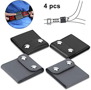 4 Pack Seatbelt Adjuster Car Seat Belt Covers with PU Leather Shoulder and Neck Protector Strap Positioner Locking Clip for Adults and Kids(Black and Gray)