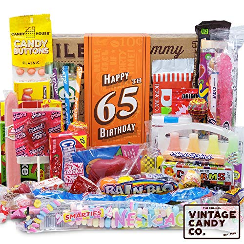 VINTAGE CANDY CO. 65TH BIRTHDAY RETRO CANDY GIFT BOX - 1956 Decade Childhood Nostalgia Candies - Fun...