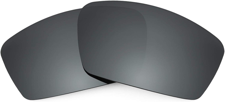 Revant Verres de Rechange pour Oakley Square Whisker - Compatibles avec les Lunettes de Soleil Oakley Square Whisker Chromé Noir Mirrorshield - Polarisés Elite