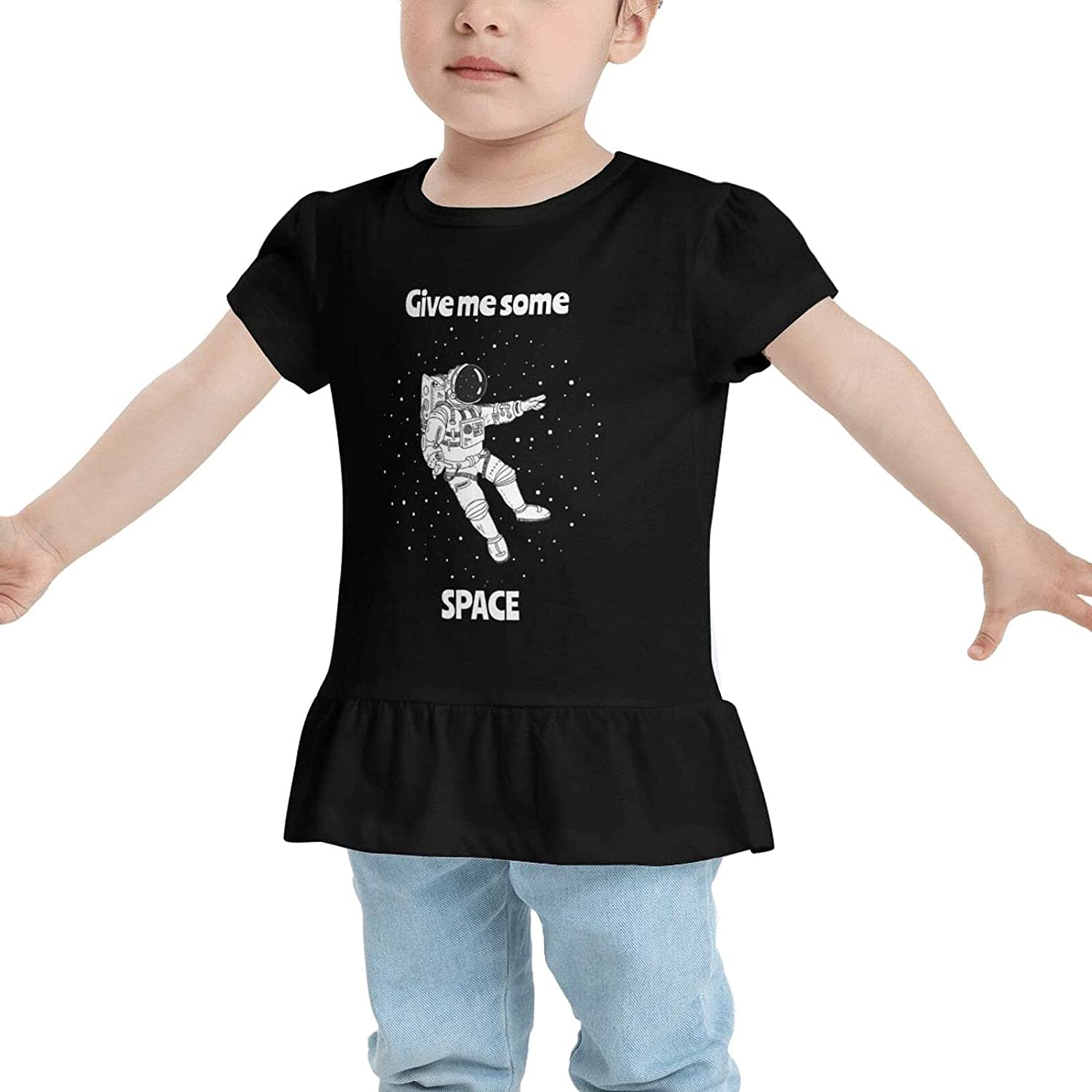 Astronaut Give Me Some Space Baby's Girls Cotton T-Shirt Tees Dresses