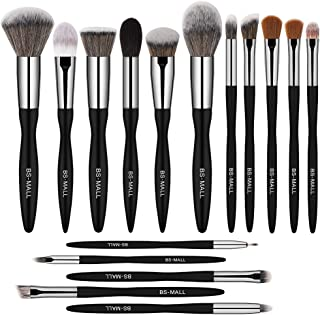 BS-MALL Makeup Brush Set 16pcs Makeup Brushes Premium Synthetic Bristles Powder Foundation Blush Contour Concealers Lip Eyeshadow Brushes Kit
