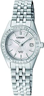 CITIZEN Womens Quartz Watch, Analog Display and Stainless Steel Strap - EU6060-55D