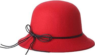 LONIY Women's 2018 Fashion Winter Hat Retro Elegant Wide Brim Felt Wool Floppy Solid Colors hat
