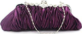 Silk Cocktail Evening Handbags/Clutches in Gorgeous Silk More Colors Availabl,Purple,27 * 12 * 4CM