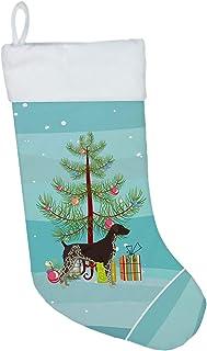 Caroline's Treasures German Shorthaired Pointer Tree Christmas-Stockings, Multicolor