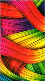 Miracle Home Toalla Microfibra Playa Colores, Multicolor, 75 x 145 cm
