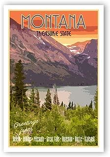 vintage montana postcards