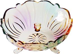 XINHU Kristal Glas Fruit Bowl Moderne Creatieve Woonkamer Thuis Koffietafel Mand 24.5×24.5×11cm
