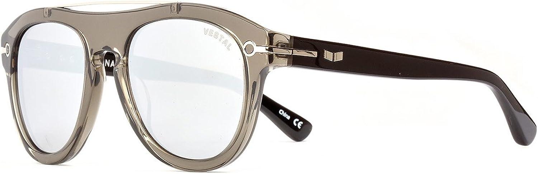 Vestal De Luna Sunglasses   Grey Black Silver Mirror