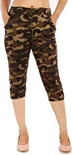 MUKHAKSH (Pack of 1 Women/Girls/Ladies Hot Army Capri 3/4 for Gym/Work Out/Sports/Casual & Party wear