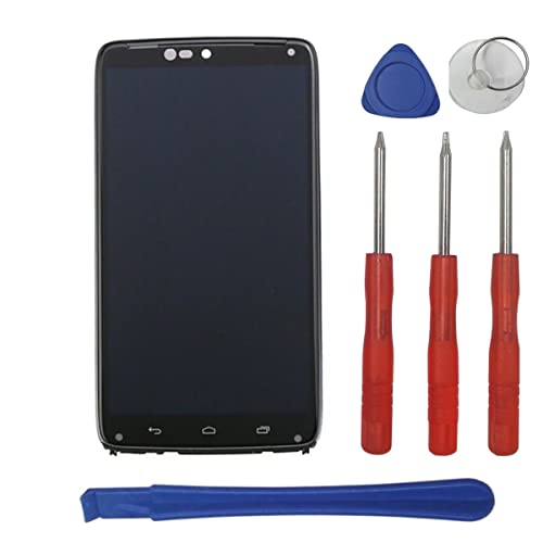 Swark LCD Compatible with Motorola Droid Turbo XT1254 Display Touch Screen Digitizer Assembly + Frame Replacement