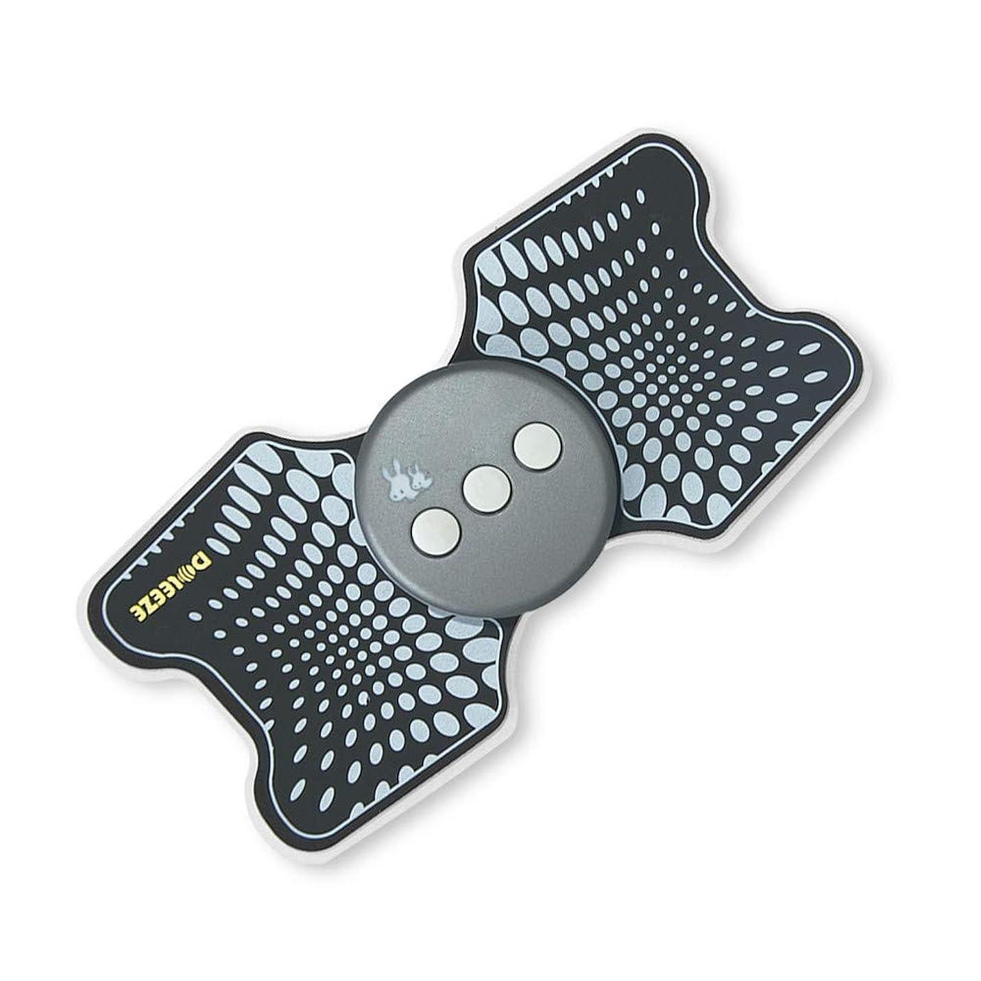 一掃する秀でる訪問Lekocミニマッサージャー 低周波治療器 9モード 十段階調整 USB充電式 筋肉 背中 足 子牛手 首 肩 腰 腹 全身用 軽量 携帯便利 家庭用 運動用 (ブラック)