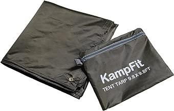 KampFit 9.8'x9.8' Waterproof Tent Footprint Camping Tarp with 6 Pcs Ultralight Tent Stakes
