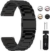 Fullmosa 4 Colores para Correa Metálica de Reloj de Liberación Rápida, Pulsera Reloj de Acero Inoxidable 14mm 16mm 18mm 19mm 20mm 22mm 24mm