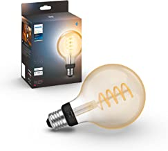 Philips Hue White Ambiance Filament G93 Globe Smart Light Bulb [E27 Edison Screw] with Bluetooth, Compatible with Alexa, G...