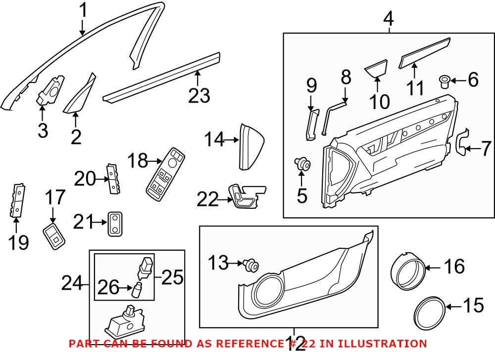 shopping Genuine Luxury OEM Seat Switch Mercedes 21290597009107 for Panel