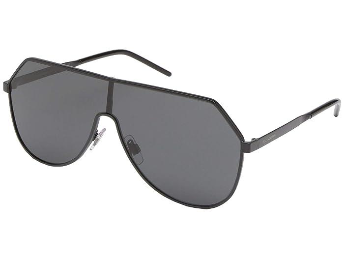 Dolce and Gabbana  DG2221 (Matte Black/Grey) Fashion Sunglasses