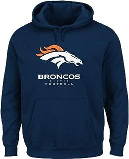 Majestic Denver Broncos Critical Victory VIII (8) Hooded Sweatshirt-Navy