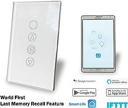 WiFi Smart Fan Light Switch Au Approved Google, Alexa, IFTT controllable Glass Panel