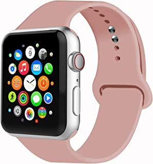 Sport Band Compatible with Watch Band 38MM 42MM 40MM 44MM, Soft Silicone Replacement Sport Strap Compatible with 2019 Watch Series 5 2018 Watch Series 4/3/2/1