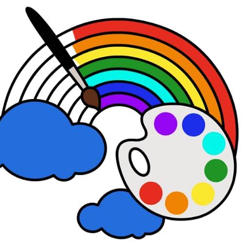 Livro De Colorir Para Crianças: Bebê Jogos de desenho para meninas e meninos pintar por número - jogo de crianças
