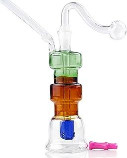 WHTUDEY 8 Pack Oil Lamp Handmade Thick Glass Burner Suit Glass Ball for Burning
