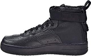 Nike SF AF1 Air Force Mid GS Hi Top Trainers AJ0424 Sneakers Shoes (UK 4.5 us 5Y EU 37.5, Black Black Black 003)