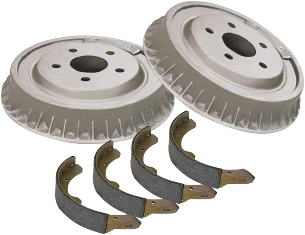 AutoDN Rear Brake Drums New Shipping Free and Premium 6 Baltimore Mall Set Compati Shoes of
