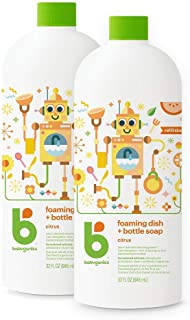 Babyganics Foaming Dish and Bottle Soap Refill, Citrus, 32oz Bottle (Pack of 2)