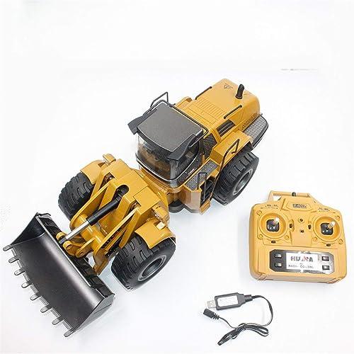 soporte minorista mayorista Heaviesk para HUINA Toys 1583 1 1 1 14 10CH Aleación RC Camión niveladora con Cargador Frontal Carro Ingeniería Construcción Vehículo Vehículo Juguete RTR  barato y de alta calidad