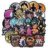 100Pcs Dragon Ball Z Laptop Stickers Anime Waterproof Stickers for Skateboard Luggage Helmet Guitar Super Z Sticker