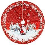 XCSW Gonna per Albero di Natale 90cm Tappetino per Albero di Babbo Natale Copertura per Albero Base per Decorazioni Natalizie Ornamenti Decorazioni Natalizie