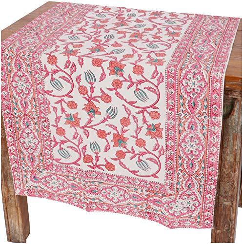 Guru-Shop Tafelkleed, Tafelkleed, Tafelkleed Blokdruk Rond, Meerkleurig, Katoen, Tafellopers en Tafelkleden