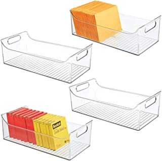 $46 » mDesign Plastic Home, Office Storage Bin Container - Desk and Drawer Organizer Tote with Handles - Holds Gel Pens, Erasers, Tape, Pens, Pencils, Highlighters, Markers, 4 Pack - Clear