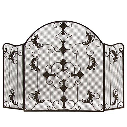 L'ORIGINALE DECO Style Ancien Pare Feu Ecran de Cheminée Marron 120 cm