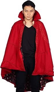 Strange Cloak Bright Red Cape Dexlue Halloween Cosplay Costume One Size Xcoser