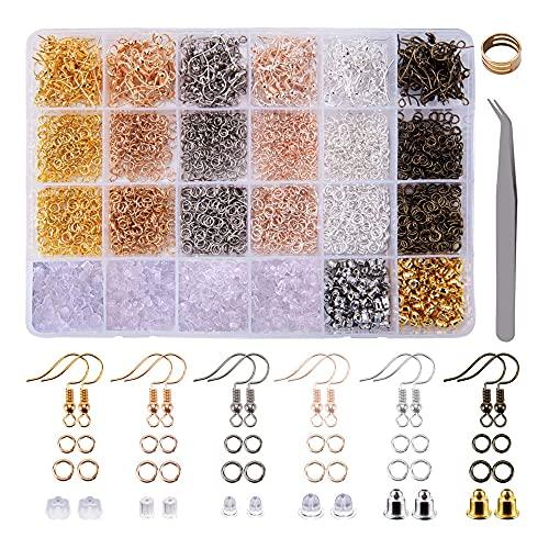 Pendientes Accesorios Kits, Hacer Artesanía Ganchos para Pendientes, Kits Ganchos para Pendientes, Bisutería Metal Pendientes Bricolaje Kits, para Pendientes Artesanía