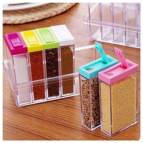 Ndier Gewürzdose, Gewürzbox, Acryl, 6 Stück/Set, mehrfarbig