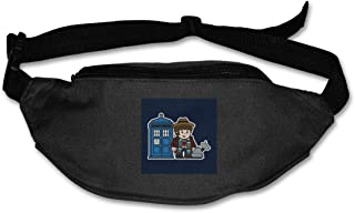 Fanny Pack For Women Men Mitesized Doctor Who 4th Tom Baker Tardis Waist Bag Pouch Travel Pocket Wallet Bum Bag For Running Cycling Hiking Workout